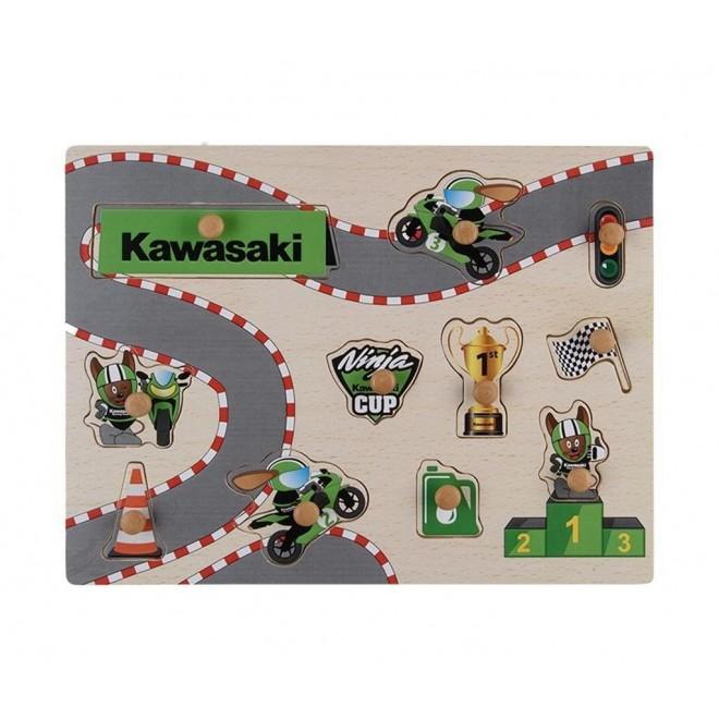 Puzzle Kawasaki en bois