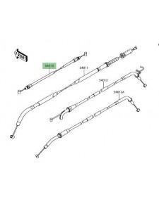 Câble fermeture de selle passager Kawasaki Z900 (2017 et +) | Réf. : 540100614