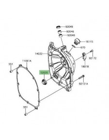 Hublot carter embrayage Kawasaki Z900 | Réf. 520051120