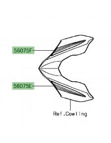 Autocollant tête de fourche Kawasaki Z900 | Réf. 560752588