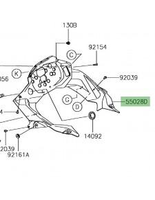 Habillage intérieur tête de fourche | Kawasaki Versys-X 300