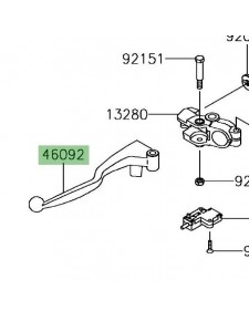 Levier d'embrayage Kawasaki Versys-X 300 (2017-2018) | Réf. 460920571