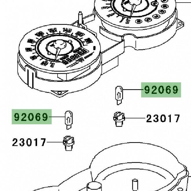 Ampoule T5 compteur   Kawasaki W800 (2011-2016)