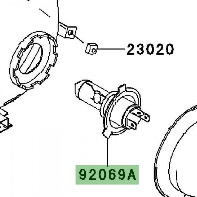 Ampoule H4 optique avant | Kawasaki W800 (2011-2016)