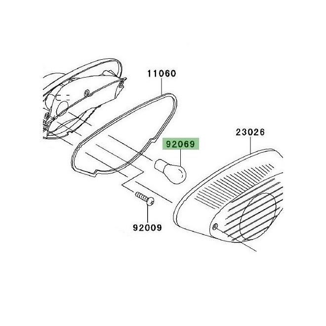 Ampoule feu arrière | Kawasaki W800 (2011-2016)