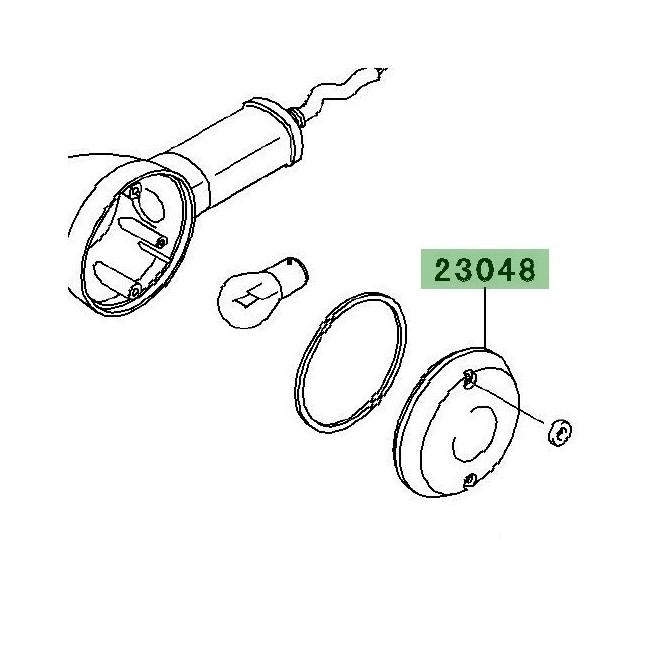 Cabochon clignotants arrière Kawasaki W800 (2011-2016) | Réf. 230481065