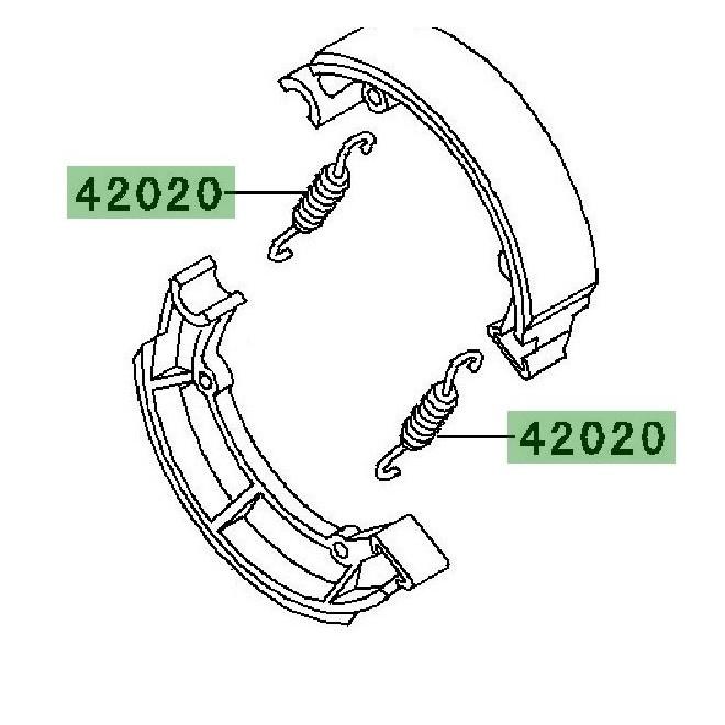 Ressort de rappel frein à tambour | Kawasaki W800 (2011-2016)