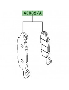 Plaquettes frein avant Kawasaki W800 (2011) | Réf. 430820110