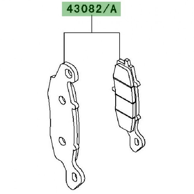 Plaquettes frein avant Kawasaki W800 (2011)   Réf. 430820110