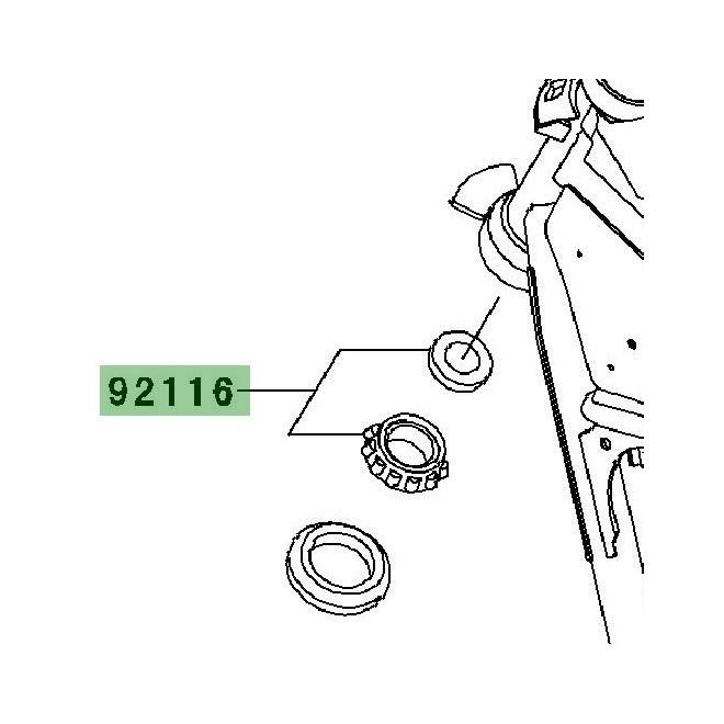 Roulement de direction inférieur   Kawasaki W800 (2011-2016)