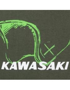 T-Shirt femme Kawasaki Helmet | détail