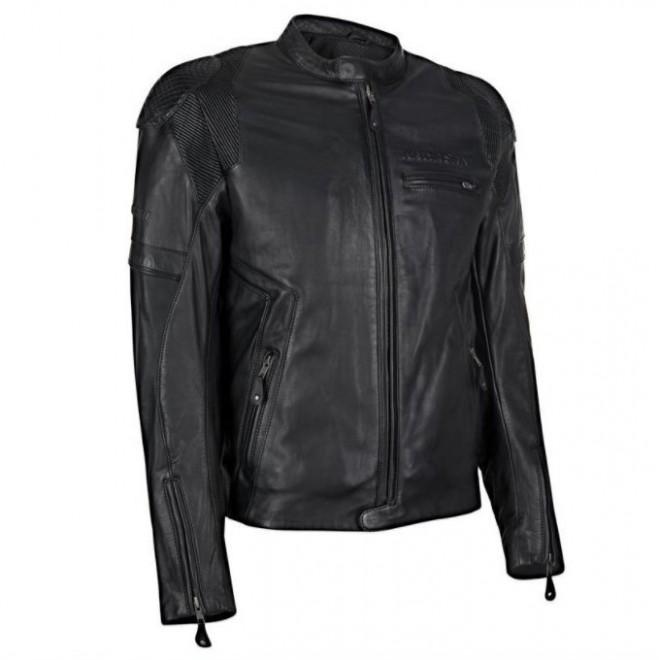 Blouson cuir Kawasaki RS Noir | Devant