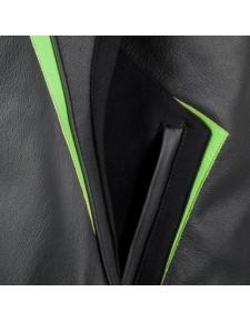 Blouson cuir Tourer Kawasaki High Tech | Détail