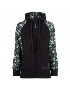 Sweat-shirt zippé femme à capuche Kawasaki K-Mouflage | Devant