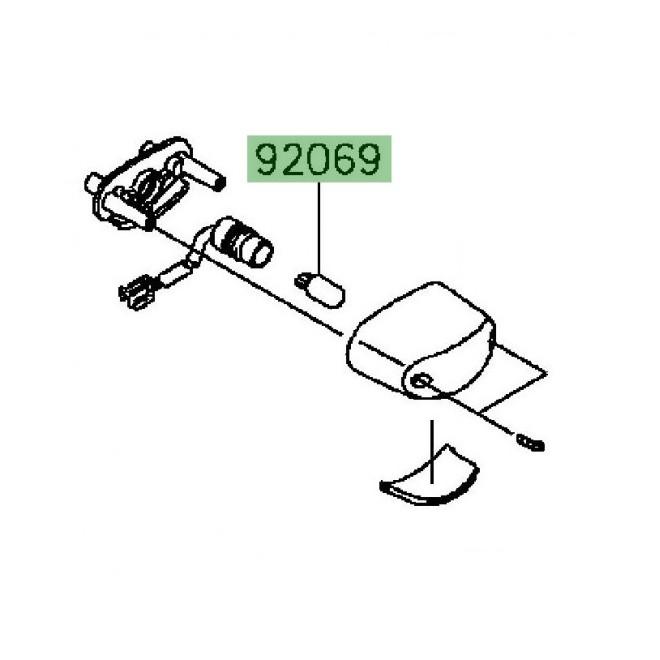 Ampoule (12V/5W) éclairage de plaque Kawasaki Vulcan S (2015 et +)   Réf. 920691016