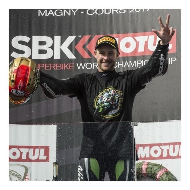 T-Shirt homme Kawasaki 3ième titre WorldSBK Jonathan Rea | Devant