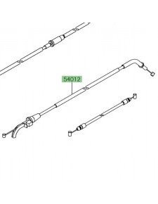 Câble ouverture des gaz Kawasaki Ninja 650 | Réf. 540120654