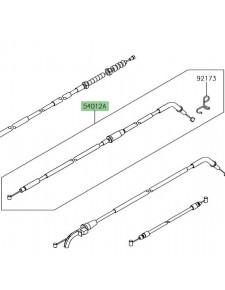 Câble fermeture des gaz Kawasaki Ninja 650 | Réf. 540120655