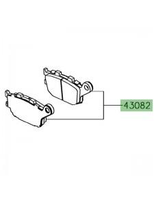 Plaquettes de frein arrière Kawasaki Ninja 650 | Réf. 430820166