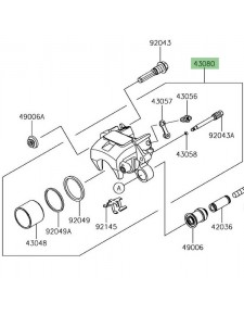 Étrier de frein arrière Kawasaki Ninja 650 | Réf. 430800156DJ
