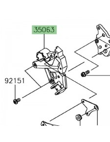Platine repose-pieds avant gauche Kawasaki Ninja 650 | Réf. 35063134818R