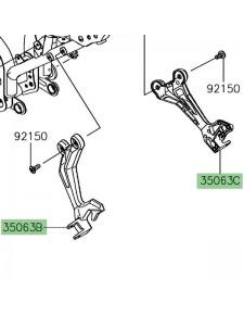 Platine repose-pieds arrière Kawasaki Ninja 650 | Moto Shop 35