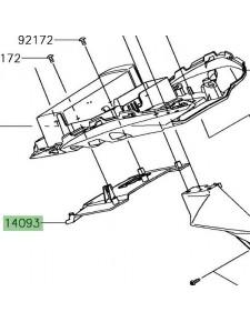 Trappe passage de roue arrière Kawasaki Ninja 650 | Réf. 140930482