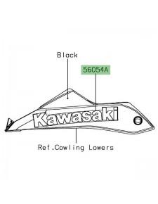 "Autocollant ""Kawasaki"" sabot moteur Kawasaki Ninja 650"