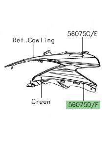 Autocollant inférieur tête de fourche Kawasaki Ninja 650 KRT Edition | Moto Shop 35