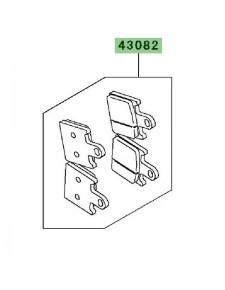 Plaquettes de frein avant Kawasaki Z1000 (2007-2009) | Réf. 430820072