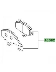 Plaquettes de frein arrière Kawasaki Z1000 (2010-2013) | Réf. 430820111