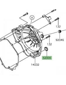 Hublot carter d'embrayage Kawasaki Z300 (2015-2016) | Réf. 520051009