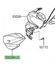 Habillage latéral gauche optique avant Kawasaki Z300 (2015-2016) | Moto Shop 35