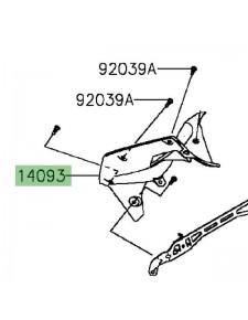Intérieur gauche flanc de carénage Kawasaki Z300 (2015-2016) | Moto Shop 35