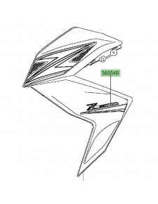 "Autocollant ""Z300"" flanc de carénage Kawasaki Z300 (2015) | Moto Shop 35"
