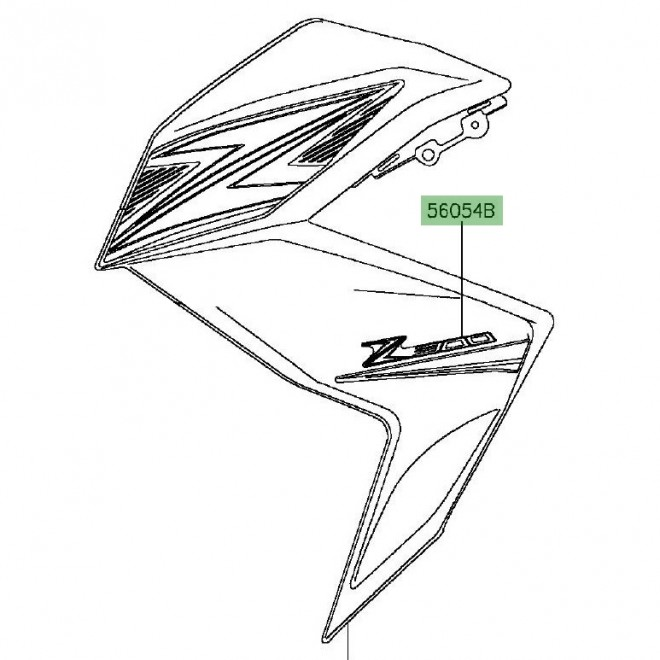 autocollant z300 flanc de car nage kawasaki z300 2015. Black Bedroom Furniture Sets. Home Design Ideas