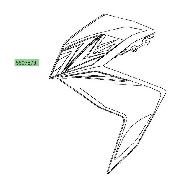 autocollant z flanc de car nage kawasaki z300 2016. Black Bedroom Furniture Sets. Home Design Ideas