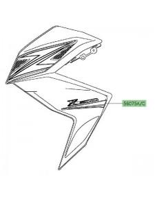Autocollant inférieur flanc de carénage Kawasaki Z300 (2015) | Moto Shop 35