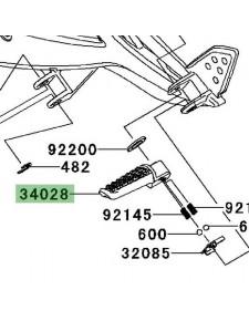 Repose-pieds arrière gauche Kawasaki Er-6n (2006-2008)   Réf. 340280004