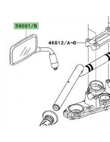 Rétroviseur gauche Kawasaki Er-6n (2006-2008) | Réf. 560010144
