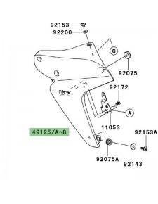 Écope gauche de radiateur Kawasaki Er-6n (2006-2008) | Moto Shop 35