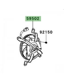 Ventilateur Kawasaki Er-6n (2006-2008)   Réf. 595020570