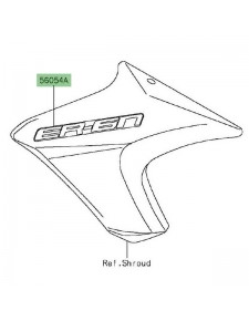 "Autocollant ""Er-6n"" écope latérale Kawasaki Er-6n (2012)   Moto Shop 35"