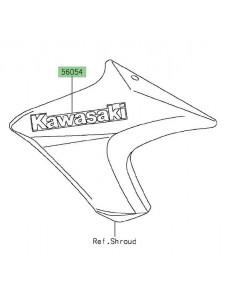 "Autocollant ""Kawasaki"" écopes latérales Kawasaki Er-6n (2013-2015) | Moto Shop 35"