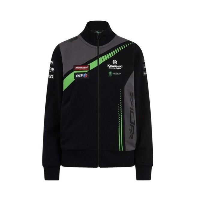 Sweat-shirt zippé femme Kawasaki Racing Team WorldSBK   Devant