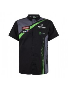 Chemise manches courtes homme Kawasaki Racing Team WorldSBK | Devant