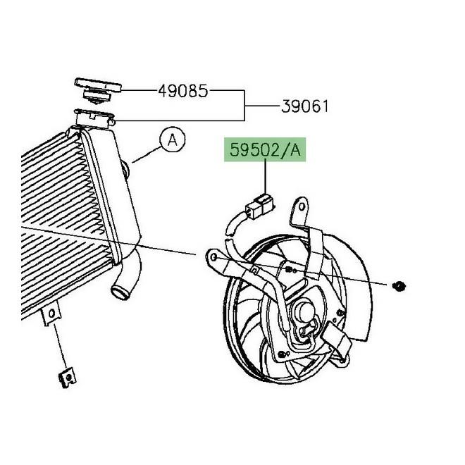 Ventilateur Kawasaki Er-6n (2012-2016) | Réf. 595025001