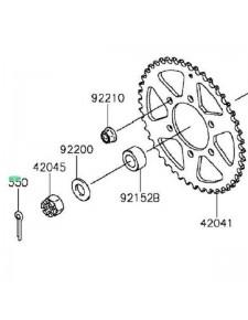 Goupille écrou de roue arrière Kawasaki Z800 (2013-2016) | Réf. 550AA4035