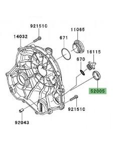 Hublot carter d'embrayage Kawasaki Er-6n (2009-2011) | Réf. 520050071