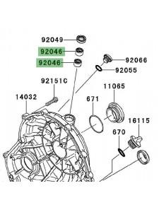 Roulement à aiguilles carter d'embrayage Kawasaki Er-6n (2009-2011) | Réf. 920460034